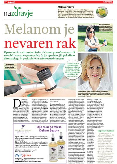 melanom dermatoskopija znamenja kožni rak